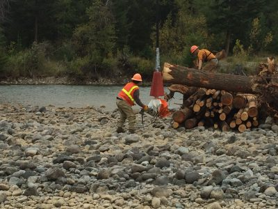 cle elum river helicopter wood placement